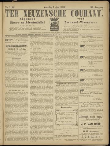 Ter Neuzensche Courant. Algemeen Nieuws- en Advertentieblad voor Zeeuwsch-Vlaanderen / Neuzensche Courant ... (idem) / (Algemeen) nieuws en advertentieblad voor Zeeuwsch-Vlaanderen 1895-06-01