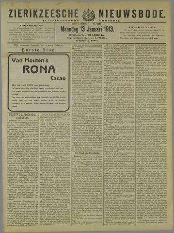 Zierikzeesche Nieuwsbode 1913-01-13