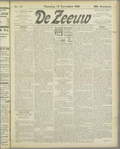 De Zeeuw. Christelijk-historisch nieuwsblad voor Zeeland 1921-11-14
