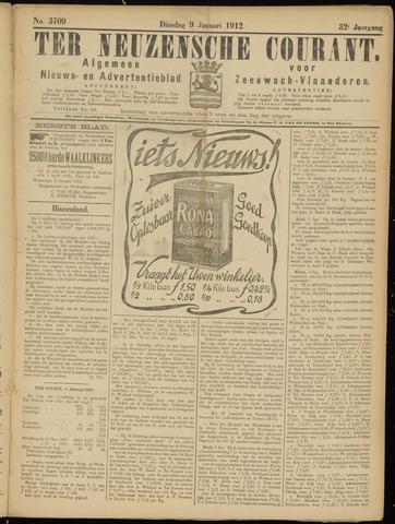 Ter Neuzensche Courant. Algemeen Nieuws- en Advertentieblad voor Zeeuwsch-Vlaanderen / Neuzensche Courant ... (idem) / (Algemeen) nieuws en advertentieblad voor Zeeuwsch-Vlaanderen 1912-01-09