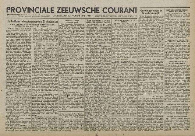 Provinciale Zeeuwse Courant 1944-08-12
