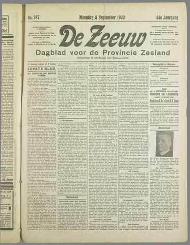 De Zeeuw. Christelijk-historisch nieuwsblad voor Zeeland 1930-09-08