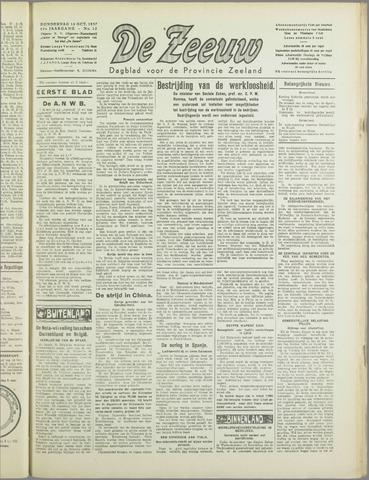 De Zeeuw. Christelijk-historisch nieuwsblad voor Zeeland 1937-10-14