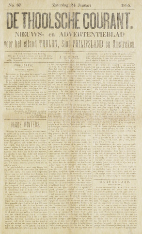 Ierseksche en Thoolsche Courant 1885-01-24