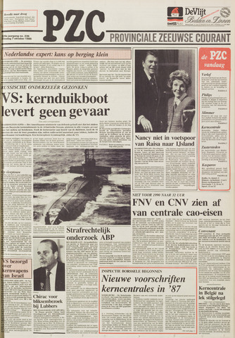Provinciale Zeeuwse Courant 1986-10-07
