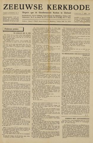 Zeeuwsche kerkbode, weekblad gewijd aan de belangen der gereformeerde kerken/ Zeeuwsch kerkblad 1948-07-09
