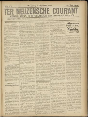 Ter Neuzensche Courant. Algemeen Nieuws- en Advertentieblad voor Zeeuwsch-Vlaanderen / Neuzensche Courant ... (idem) / (Algemeen) nieuws en advertentieblad voor Zeeuwsch-Vlaanderen 1928-09-12