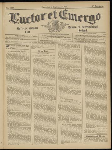 Luctor et Emergo. Antirevolutionair nieuws- en advertentieblad voor Zeeland / Zeeuwsch-Vlaanderen. Orgaan ter verspreiding van de christelijke beginselen in Zeeuwsch-Vlaanderen 1913-09-06
