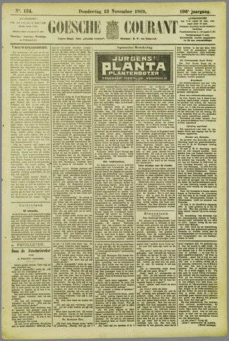 Goessche Courant 1919-11-13
