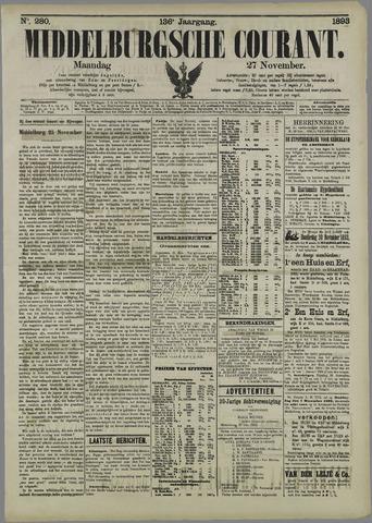 Middelburgsche Courant 1893-11-27