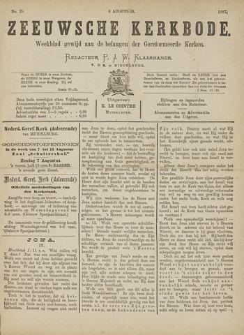 Zeeuwsche kerkbode, weekblad gewijd aan de belangen der gereformeerde kerken/ Zeeuwsch kerkblad 1887-08-06