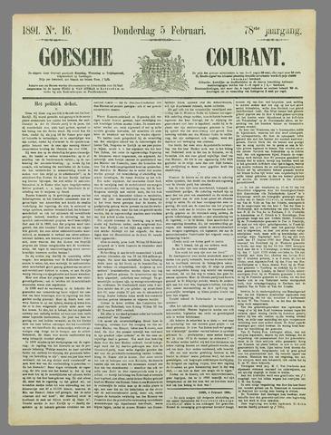 Goessche Courant 1891-02-05