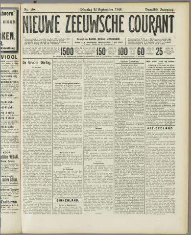 Nieuwe Zeeuwsche Courant 1916-09-12