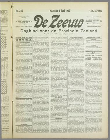 De Zeeuw. Christelijk-historisch nieuwsblad voor Zeeland 1929-06-03