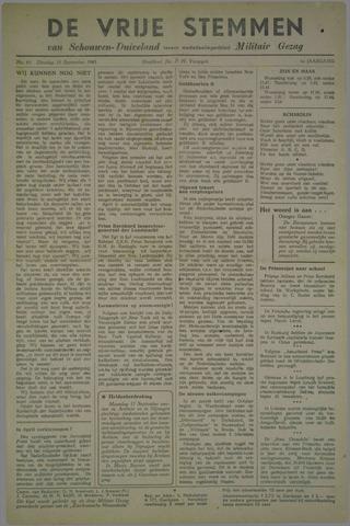 Vrije Stemmen van Schouwen-Duiveland, tevens mededeelingenblad Militair Gezag 1945-09-18