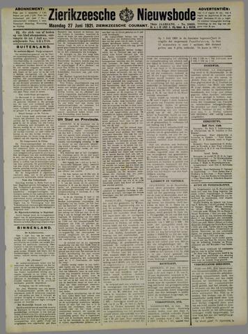 Zierikzeesche Nieuwsbode 1921-06-27
