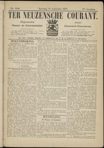 Ter Neuzensche Courant. Algemeen Nieuws- en Advertentieblad voor Zeeuwsch-Vlaanderen / Neuzensche Courant ... (idem) / (Algemeen) nieuws en advertentieblad voor Zeeuwsch-Vlaanderen 1877-09-15