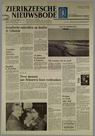 Zierikzeesche Nieuwsbode 1975-07-07