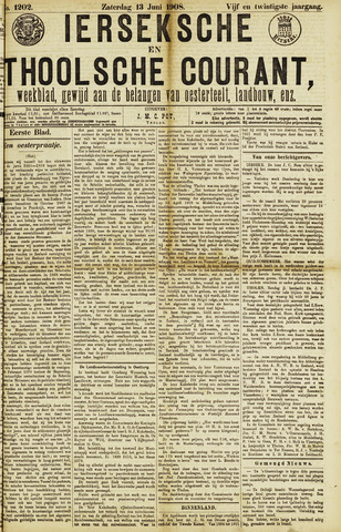 Ierseksche en Thoolsche Courant 1908-06-13