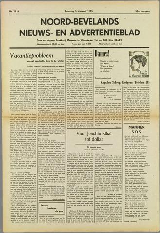 Noord-Bevelands Nieuws- en advertentieblad 1955-02-05