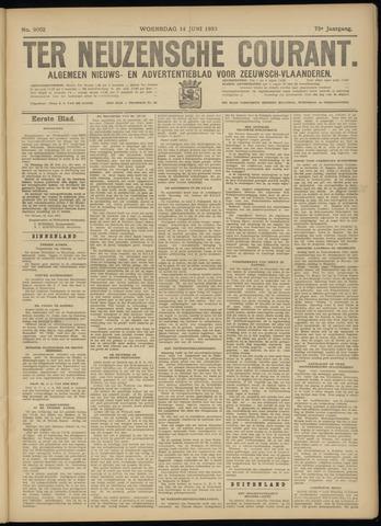 Ter Neuzensche Courant. Algemeen Nieuws- en Advertentieblad voor Zeeuwsch-Vlaanderen / Neuzensche Courant ... (idem) / (Algemeen) nieuws en advertentieblad voor Zeeuwsch-Vlaanderen 1933-06-14