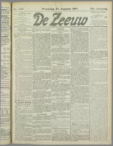 De Zeeuw. Christelijk-historisch nieuwsblad voor Zeeland 1918-08-28