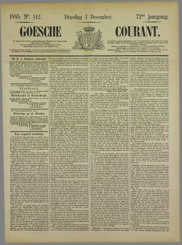 Goessche Courant 1885-12-01