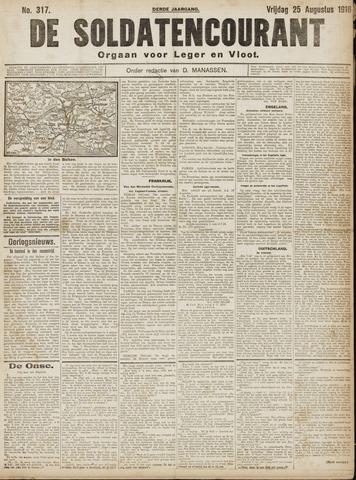 De Soldatencourant. Orgaan voor Leger en Vloot 1916-08-25