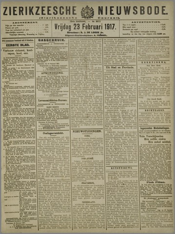 Zierikzeesche Nieuwsbode 1917-02-23