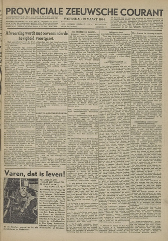 Provinciale Zeeuwse Courant 1944-03-29