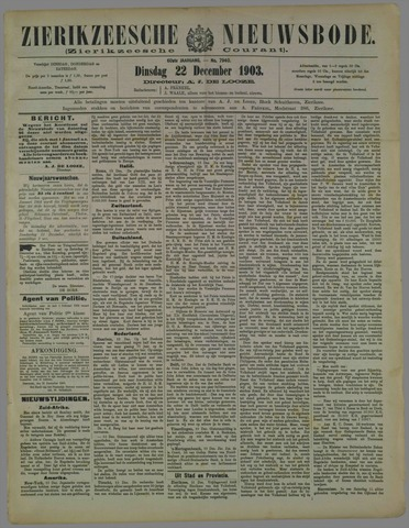 Zierikzeesche Nieuwsbode 1903-12-22