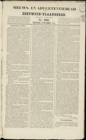 Ter Neuzensche Courant. Algemeen Nieuws- en Advertentieblad voor Zeeuwsch-Vlaanderen / Neuzensche Courant ... (idem) / (Algemeen) nieuws en advertentieblad voor Zeeuwsch-Vlaanderen 1855-12-12