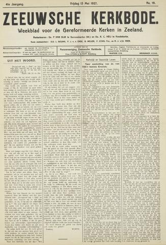 Zeeuwsche kerkbode, weekblad gewijd aan de belangen der gereformeerde kerken/ Zeeuwsch kerkblad 1927-05-13