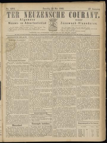 Ter Neuzensche Courant. Algemeen Nieuws- en Advertentieblad voor Zeeuwsch-Vlaanderen / Neuzensche Courant ... (idem) / (Algemeen) nieuws en advertentieblad voor Zeeuwsch-Vlaanderen 1903-05-23