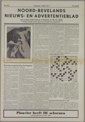 Noord-Bevelands Nieuws- en advertentieblad 1971-10-07