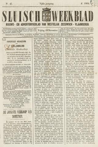 Sluisch Weekblad. Nieuws- en advertentieblad voor Westelijk Zeeuwsch-Vlaanderen 1864-11-18