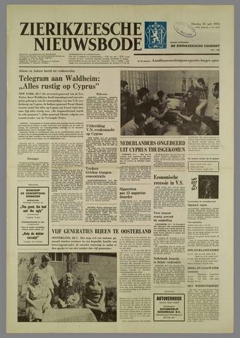 Zierikzeesche Nieuwsbode 1974-07-23