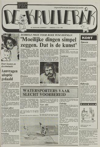 Provinciale Zeeuwse Courant katern Krullenbak (1981-1999) 1984-07-03