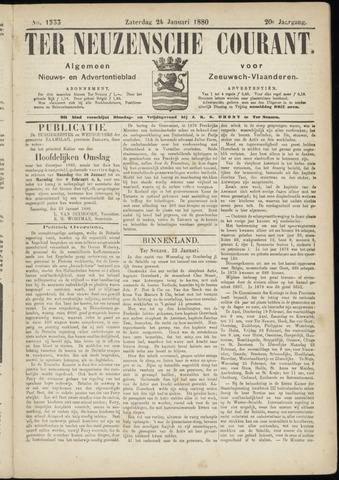 Ter Neuzensche Courant. Algemeen Nieuws- en Advertentieblad voor Zeeuwsch-Vlaanderen / Neuzensche Courant ... (idem) / (Algemeen) nieuws en advertentieblad voor Zeeuwsch-Vlaanderen 1880-01-24