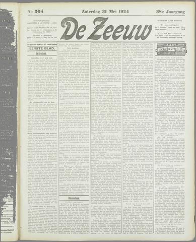 De Zeeuw. Christelijk-historisch nieuwsblad voor Zeeland 1924-05-31