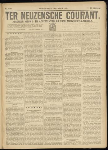 Ter Neuzensche Courant. Algemeen Nieuws- en Advertentieblad voor Zeeuwsch-Vlaanderen / Neuzensche Courant ... (idem) / (Algemeen) nieuws en advertentieblad voor Zeeuwsch-Vlaanderen 1933-12-13