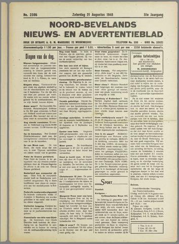 Noord-Bevelands Nieuws- en advertentieblad 1948-08-21