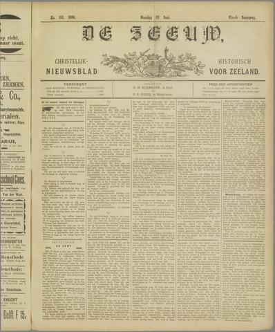 De Zeeuw. Christelijk-historisch nieuwsblad voor Zeeland 1896-06-23