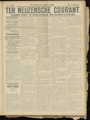 Ter Neuzensche Courant. Algemeen Nieuws- en Advertentieblad voor Zeeuwsch-Vlaanderen / Neuzensche Courant ... (idem) / (Algemeen) nieuws en advertentieblad voor Zeeuwsch-Vlaanderen 1923-08-29