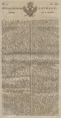 Middelburgsche Courant 1775-02-25