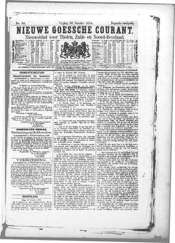Nieuwe Goessche Courant 1874-10-30