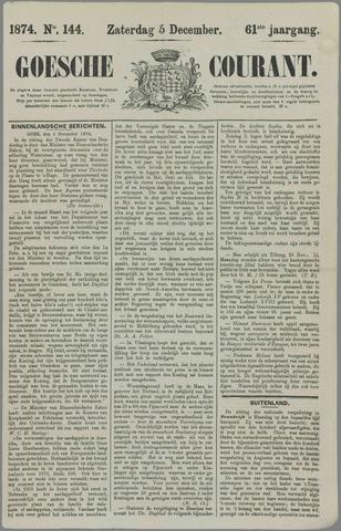 Goessche Courant 1874-12-05