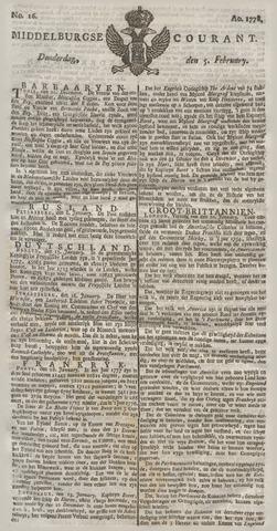 Middelburgsche Courant 1778-02-05