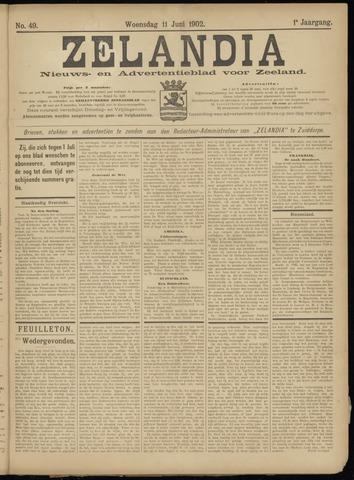 Zelandia. Nieuws-en advertentieblad voor Zeeland | edities: Het Land van Hulst en De Vier Ambachten 1902-06-11
