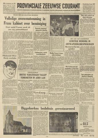 Provinciale Zeeuwse Courant 1957-08-08